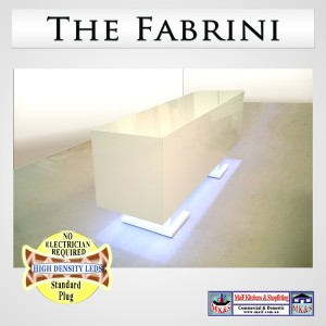 Fabrini white salon counter