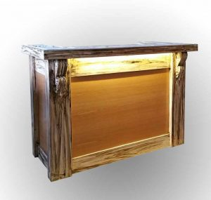 Old style reception desk