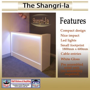The Shangri-la reception counter