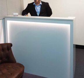 Stone Top Reception Desk