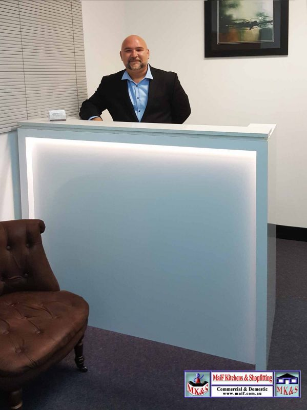 Stone Top Reception Desk