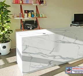 Marble shop counter