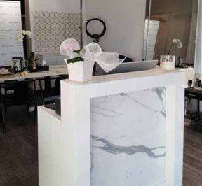 Small marble salon counter