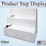 White Gloss Steps Display Unit